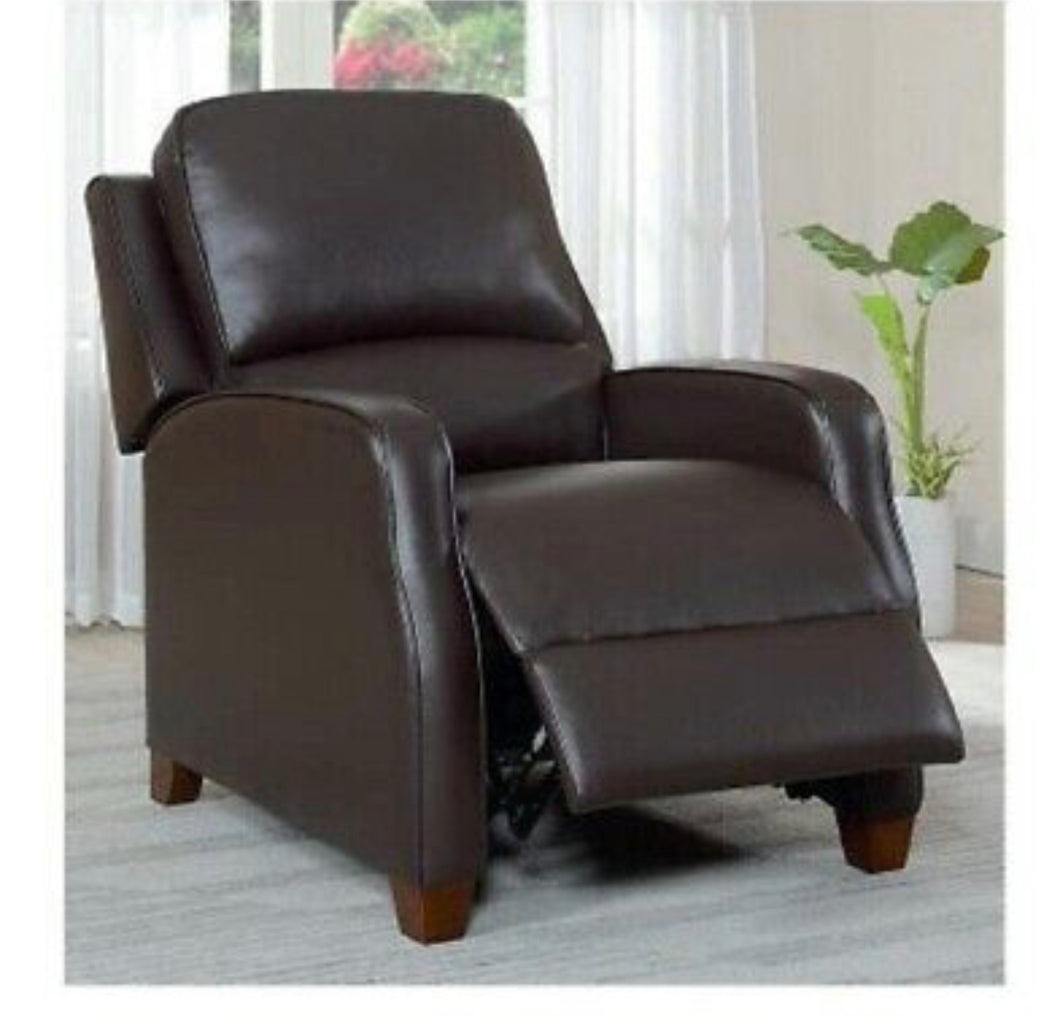 SYNERGY KYLEIGH LEATHER PUSHBACK RECLINER