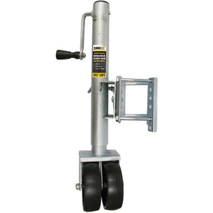 MAX HAUL 70149-1509 LB SWING BACK TRAILER TRAILER JACK WITH DUAL WHEEL