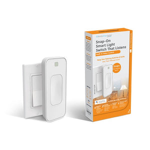SWITCHMATE SLIM VOICE-ACTIVATED WIRE-FREE SMART SWITCH, NO HUB REQUIRED