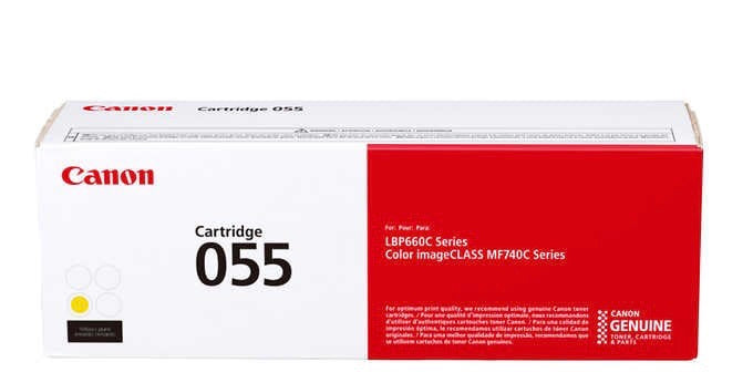 CANON GENUINE TONER CARTRIDGE 055 YELLOW