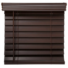 "Load image into Gallery viewer, RICHFIELD STUDIOS 2.5"" CORDLESS FAUX WOID BLINDS MAHOGANY 34.5 X 72"
