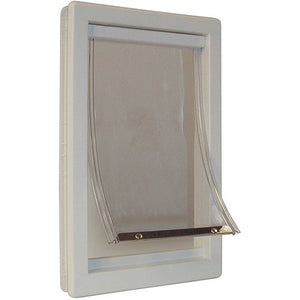 "IDEAL THERMOPLASTIC DOG DOOR, OFF WHITE, SMALL 10.62""L X 2.12"" W X 7""H"
