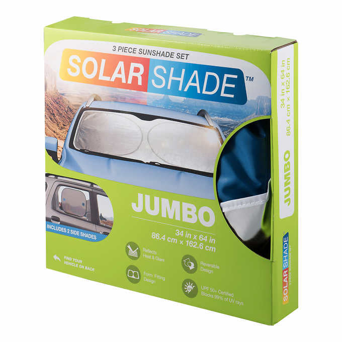 TYPE S WINDSHIELD SIKVER FOIL SUNSHADE 3- PIECE KIT 2- PACK