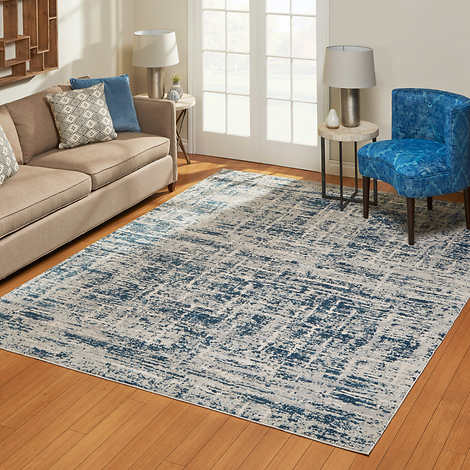 AURORA RUG COLLECTION, JOUE BLUE 6' 4X 9' 6""