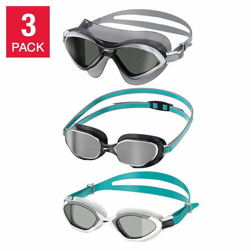 SPEEDO UNISEX ADULT SWIM GOGGLES AND MASK, 3- PACK