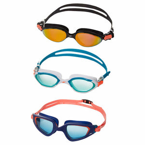 SOEEDO ADULT UNISEX GOGGLES, 3- PACK, BLACK