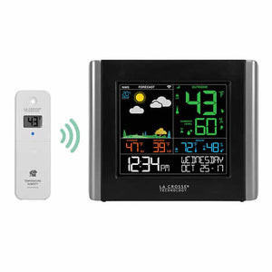 LA CROSSE WEATHER STATION WITH REMOTE SENSOR
