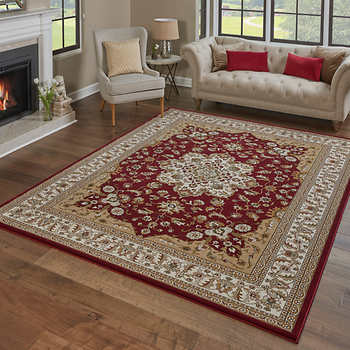 "THOMASVILLE  TIMELESS CLASIC RUG COLLECTION, ELGIN RED (6' 6"" X 9' 6"")"