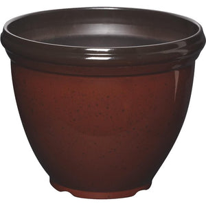 SOUTHERN PARIO RESIN PLANTER, FIERY RED