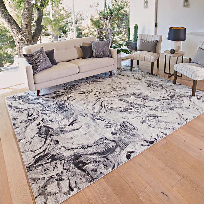 TEMPO AREA RUG COLLECTION ELENA GRAY 5 ft. 3 in. x 7 ft
