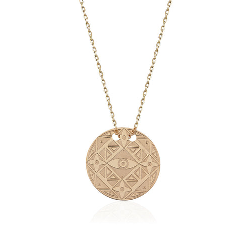 Vizyon Daire Kolye //  Visions Circle Necklace - Lucky Culture - 1
