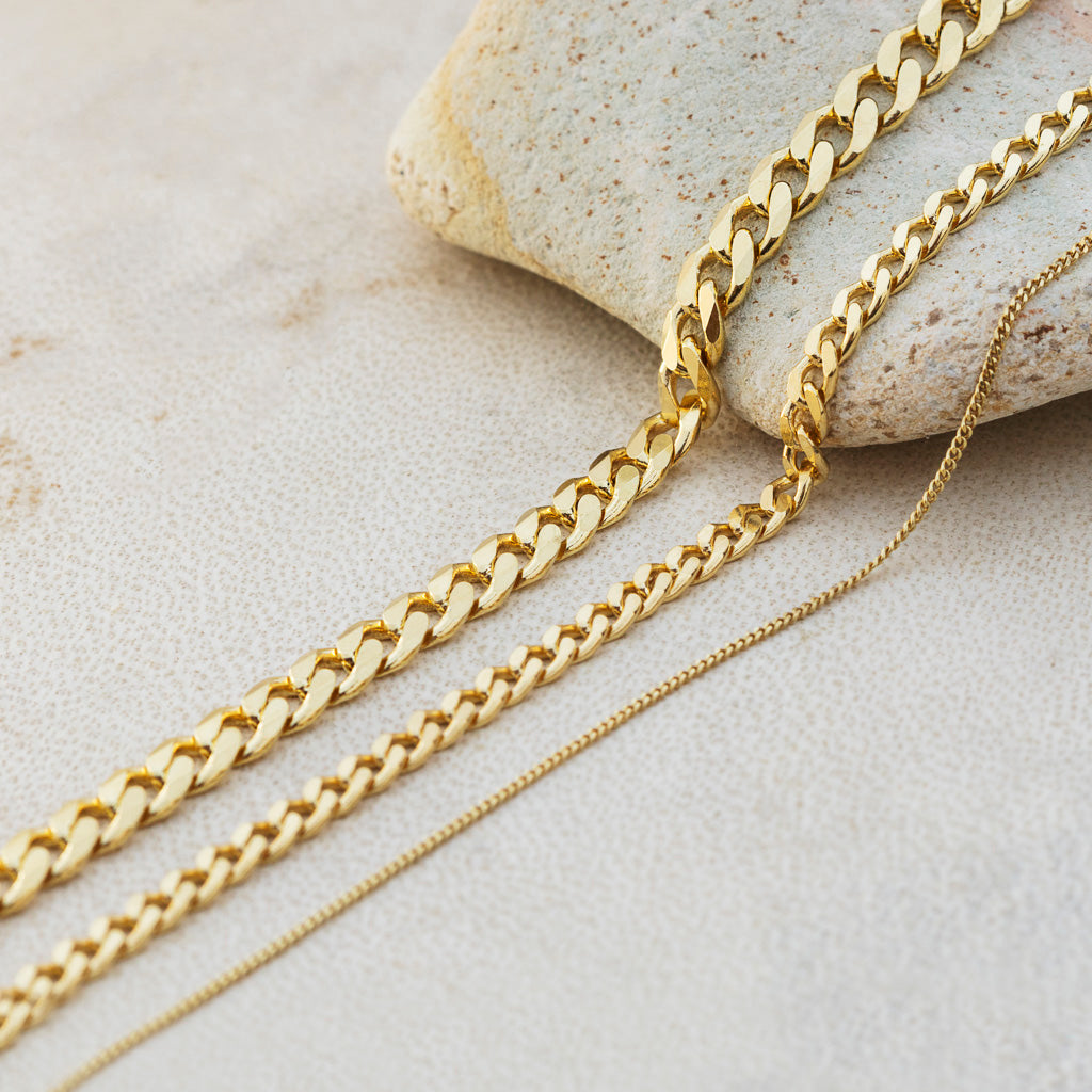Curb Chain Necklace Thin