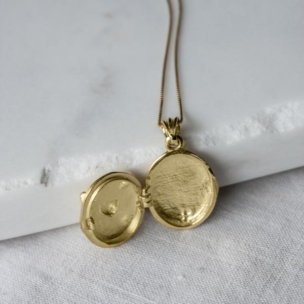 Hands Oval Vintage Kolye altın -  Hands Oval Vintage Locket gold 2