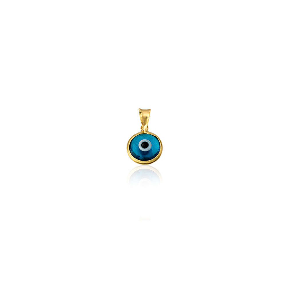 Tiny Evil Eye Glass Bead - Blue