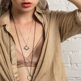 The Lucky Eye Spinner Necklace - Oxidized
