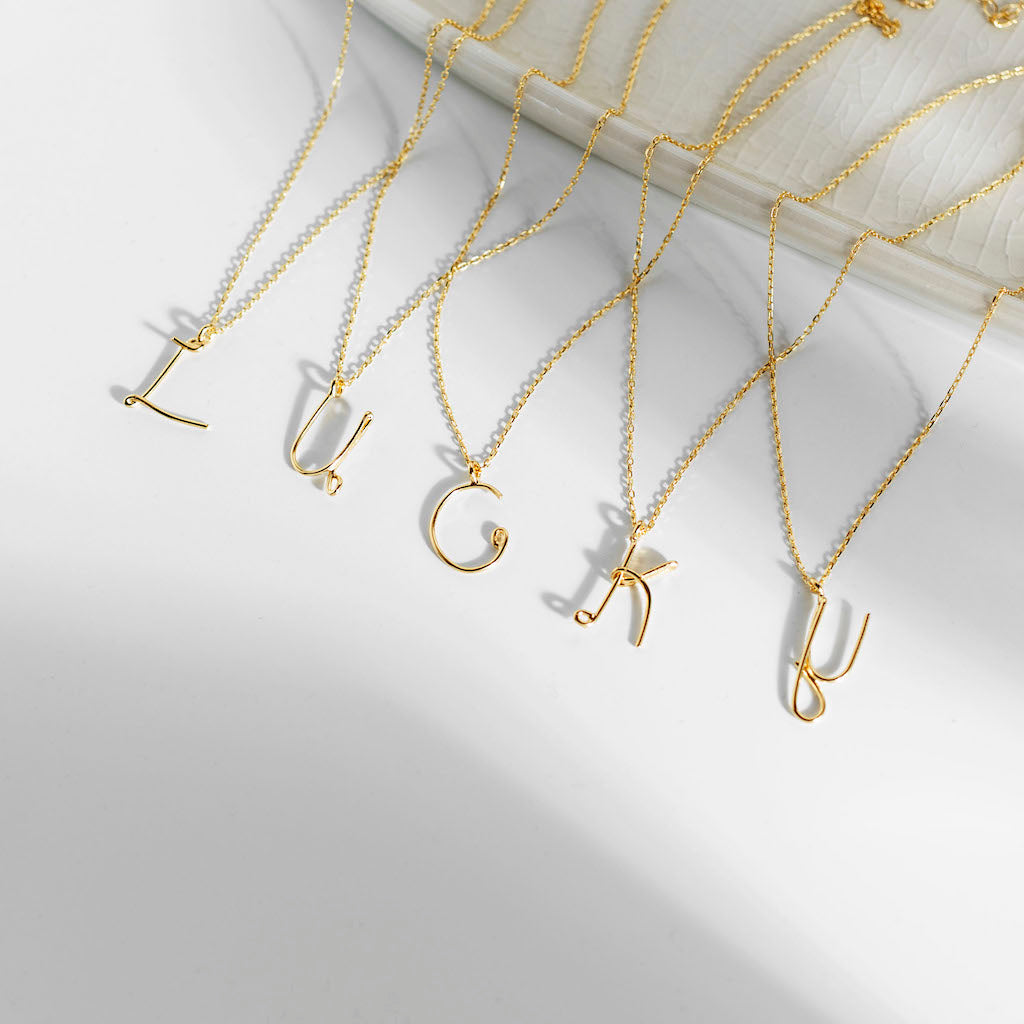 Monogram Tel Kolye | Monogram Wire Necklace