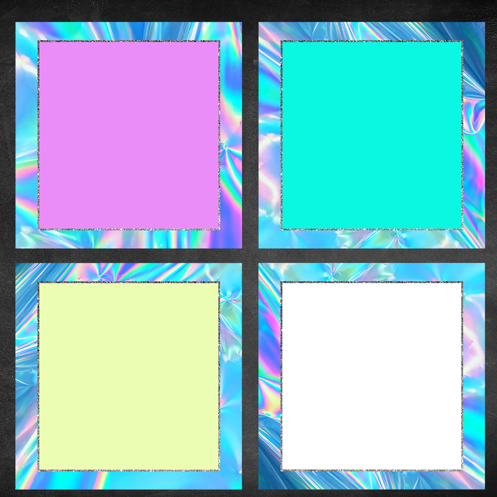 8 Holographic Blank Templates
