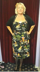 di brooks of outerlimitz 1950s vintage style rockabilly pinup clothing hawaiian sarong dress