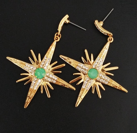 Starburst vintage 1950s inspired earrings
