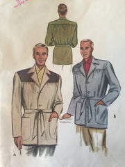 Mans casual jacket Vintage 1950s style in pale grey fleck 38 40 and 42