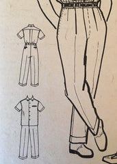 1950s vintage reproduction men's pleat front peg pants