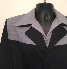 Mans casual jacket Vintage 1950s style in navy with blue fleck for 38 40 and 42 chest