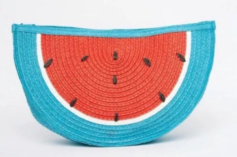 Watermelon straw clutch bag