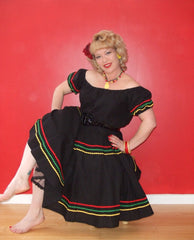 Senorita - Vintage 1950s inspired Mexican gypsy top now available on its own  XS to 3XL