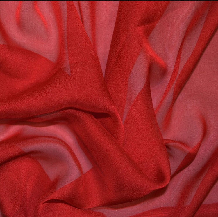 Chiffon scarf square red