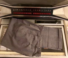 Men's pants - grey fleck 1950s vintage reproduction Hollywood pleat front peg pants