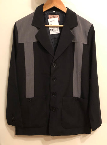 Vintage 1950s style Mans Hollywood resort two tone grey fleck and black jacket