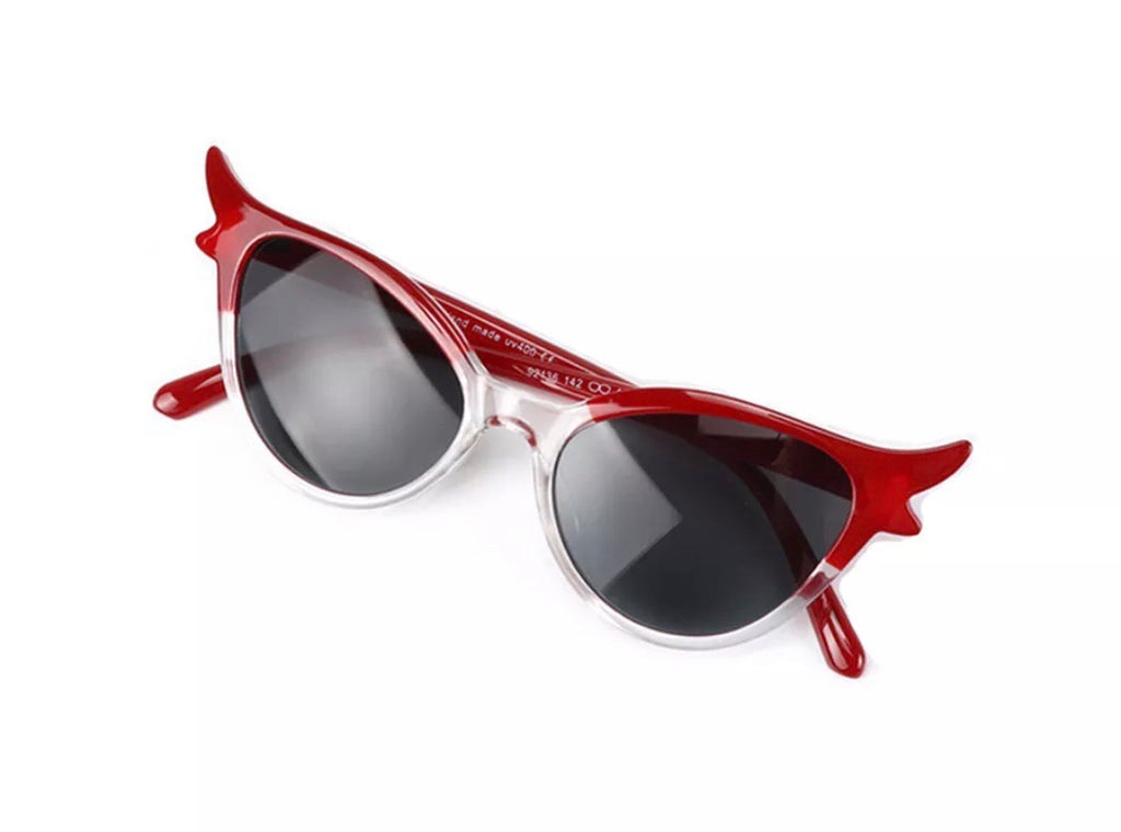 Fabulous red vintage 1950s cats eye style sunglasses