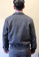 Mens 1950s vintage gab style jacket grey fleck M to 2XL