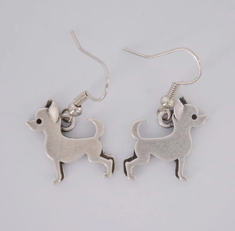 Vintage inspired chihuahua little dog earrings