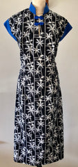 1950s Vintage style Hawaiian tea timer dress in palm tree print Size L