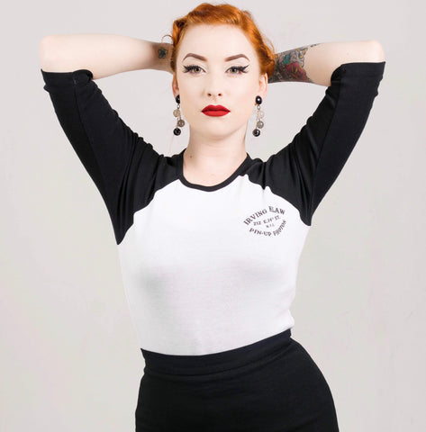 Irving Klaw Pinup Photos baseball shirt S M L