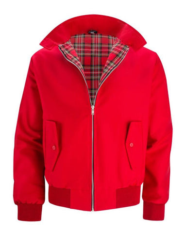Classic red Harrington casual jacket