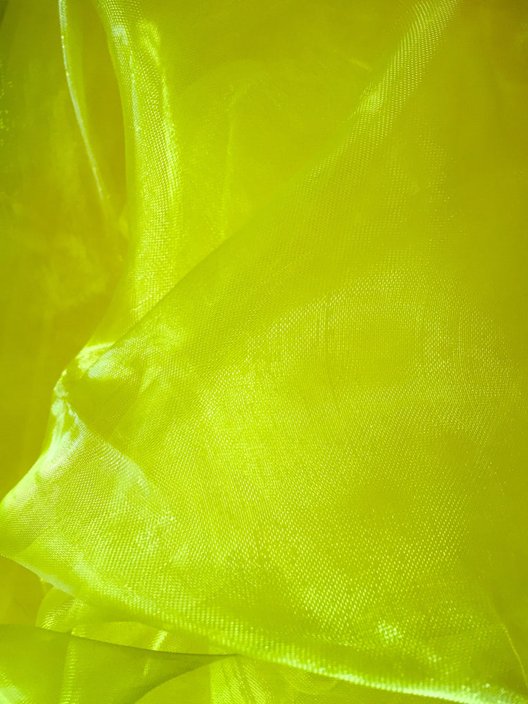 Chiffon scarf square yellow