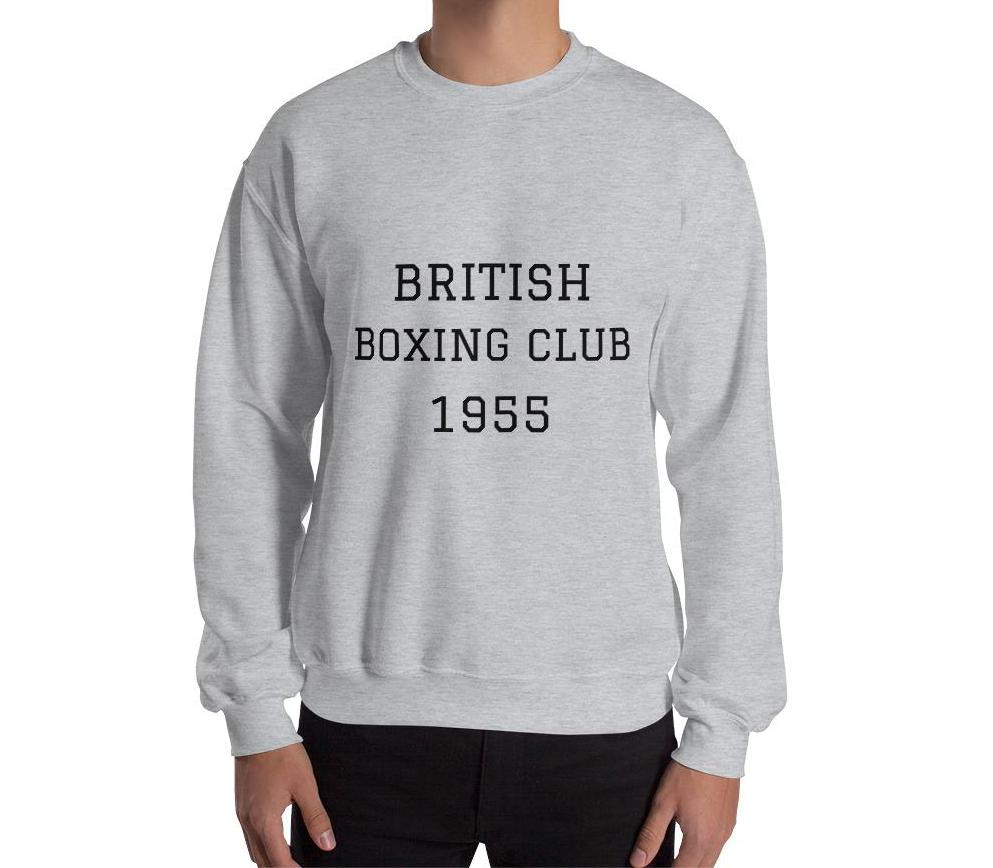 British Boxing Sweatshirt in grey or indigo blue
