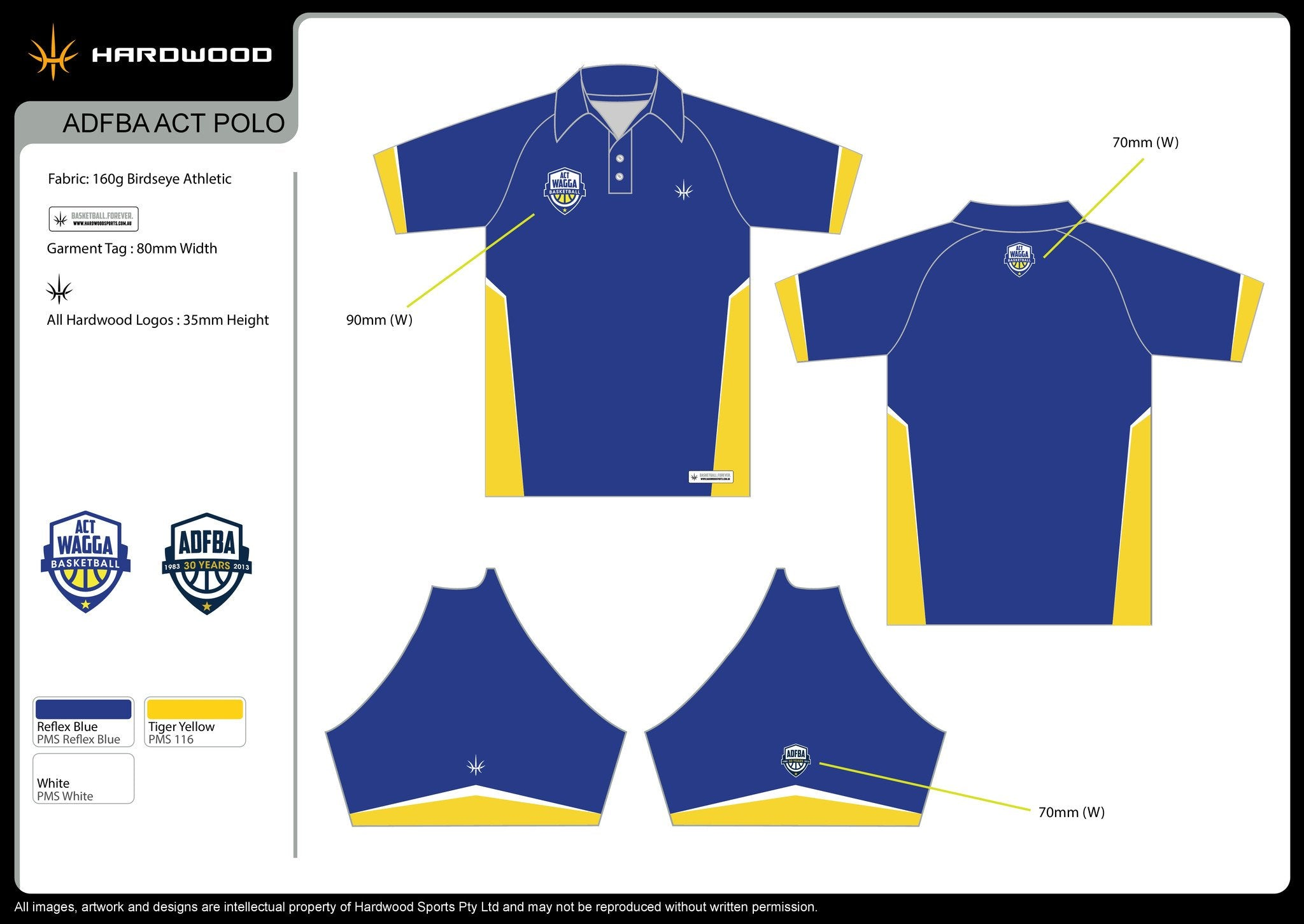 ADFBA ACT Basketball Polo Shirt