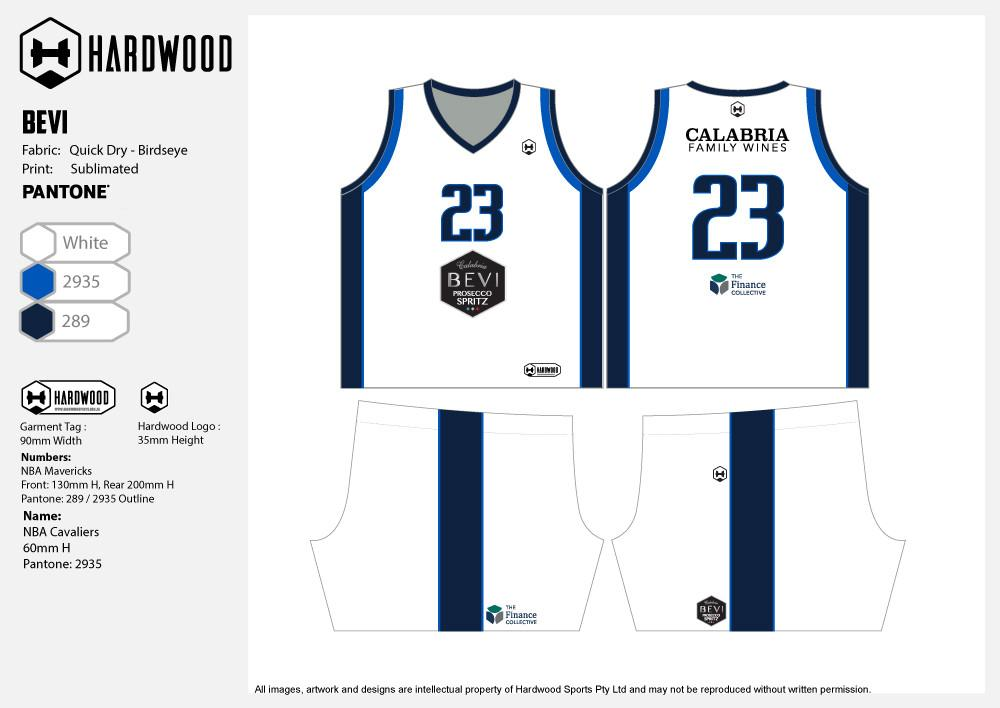 Bevi Basketball Uniform Set