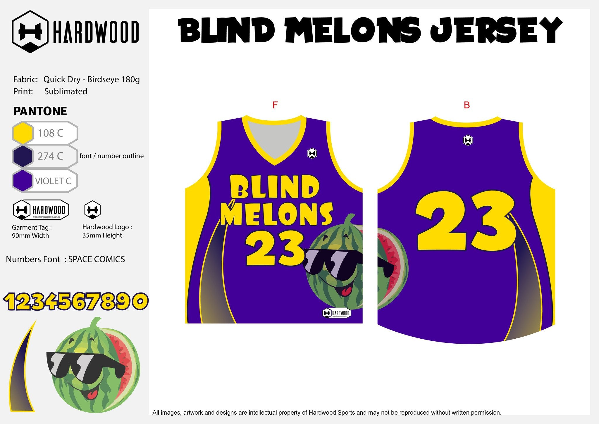 Blind Melons Basketball Jersey