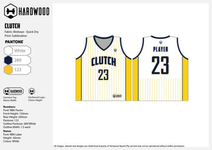 Clutch Basketball Jersey Only - White & Yellow