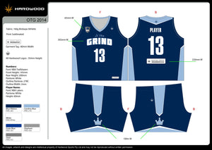 On tha Grind Basketball Uniform Set