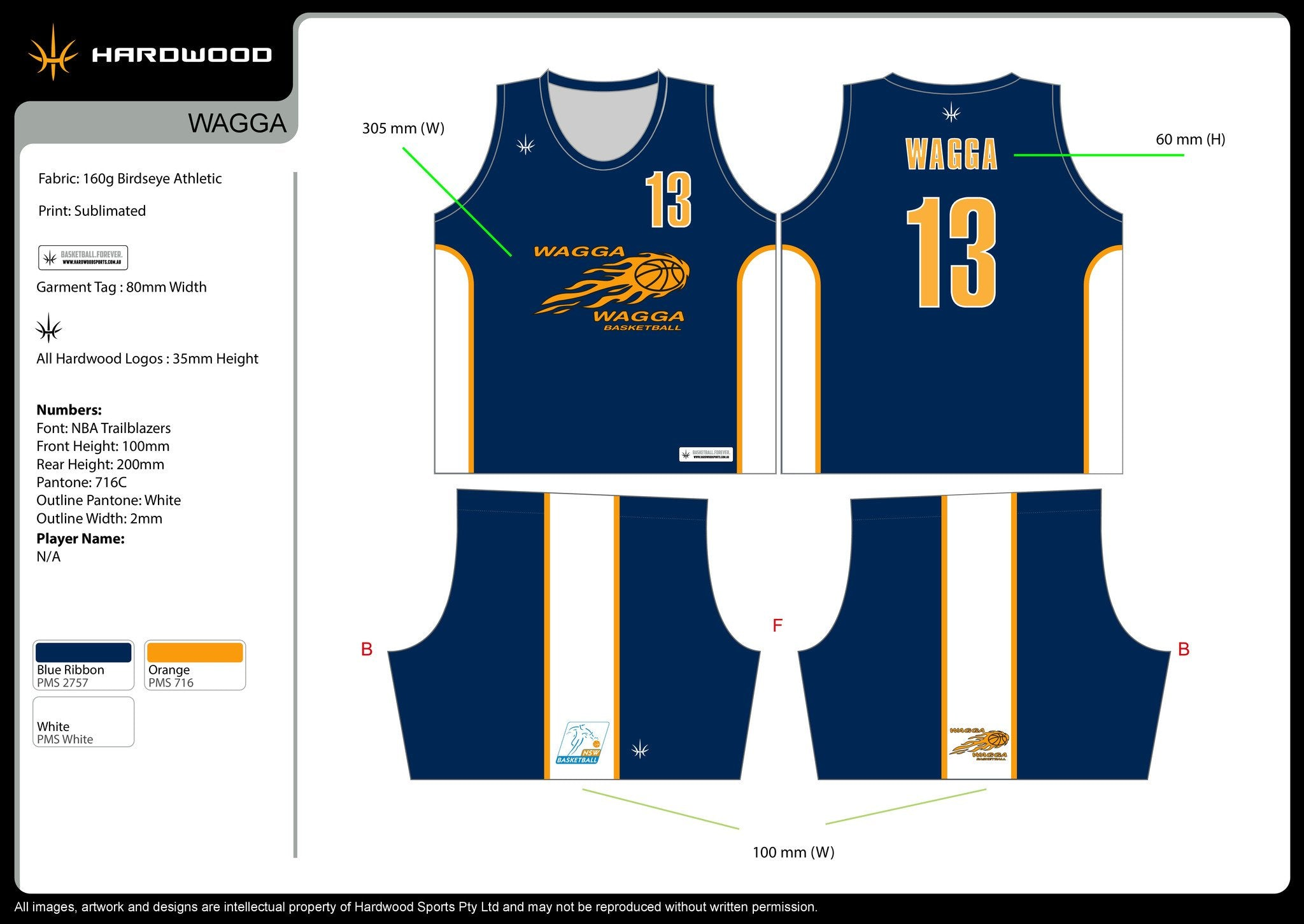 Wagga Heat Basketball Uniform Set