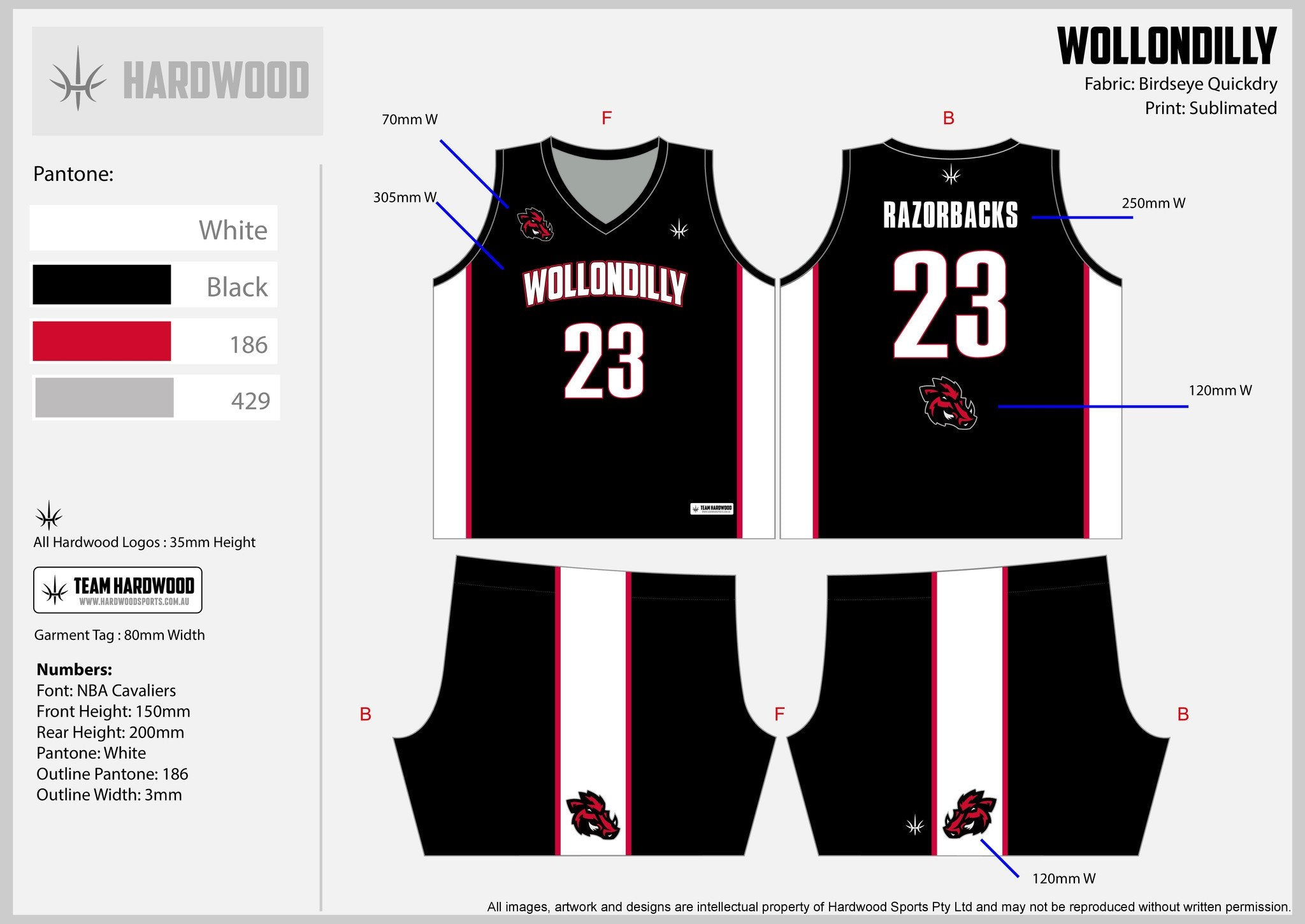 Wollondilly Basketball Uniform Set