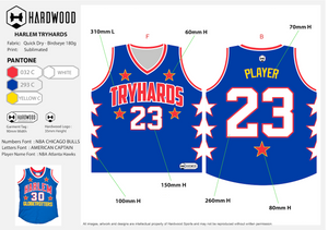Tryhards Basketball Jersey