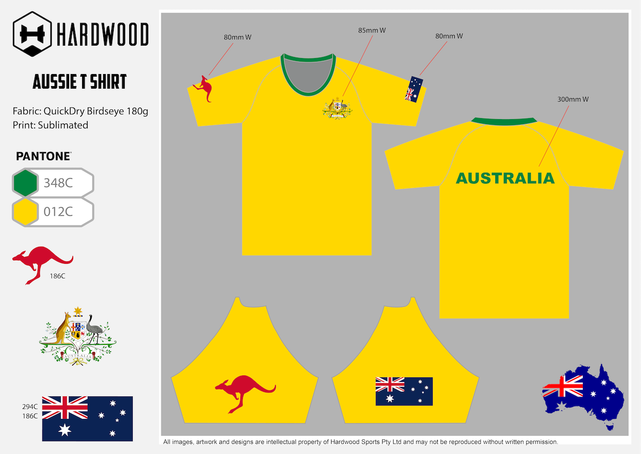 HDWD Australia T Shirt (Yellow)