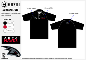 ADFA Hawks Polo Shirt (Birdseye Athletic)