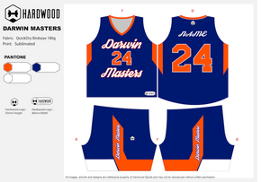 Darwin Masters Basketball Uniform Set